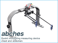 abches | 2point monitoring measuring device chest and abdomen